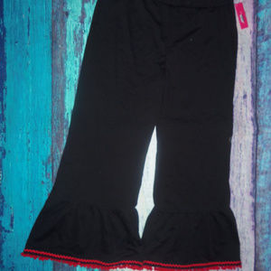 Pants Bell Bottom With Red Ball Fringe XL